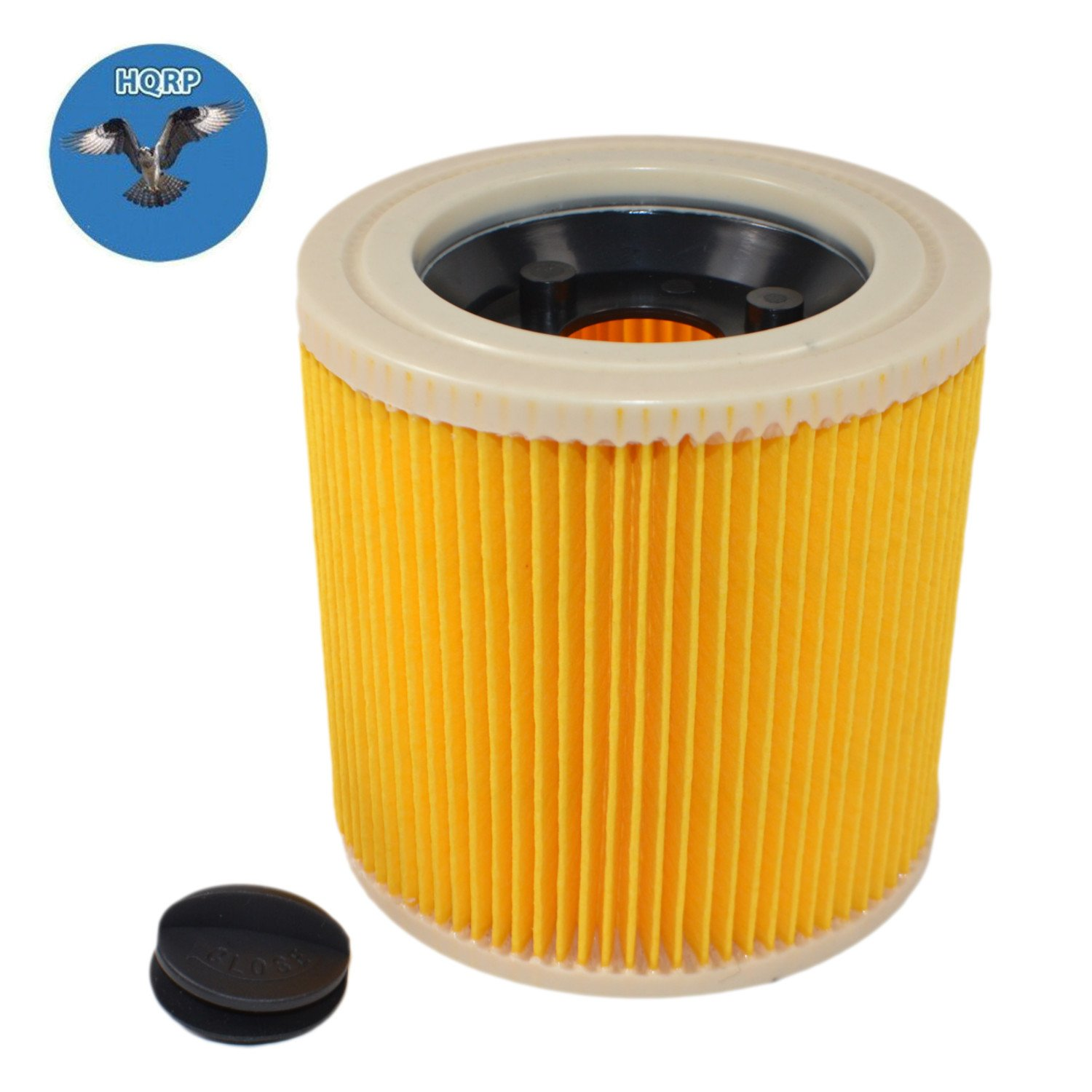 7244e468ecf HQRP Cartridge Filter for Karcher WD 3 Premium, WD3 Premium Car Kit, WD3  Premium Fireplace Kit, WD3 Premium Home Multi-purpose Vacuum Cleaner WD 3  Wet & Dry ...