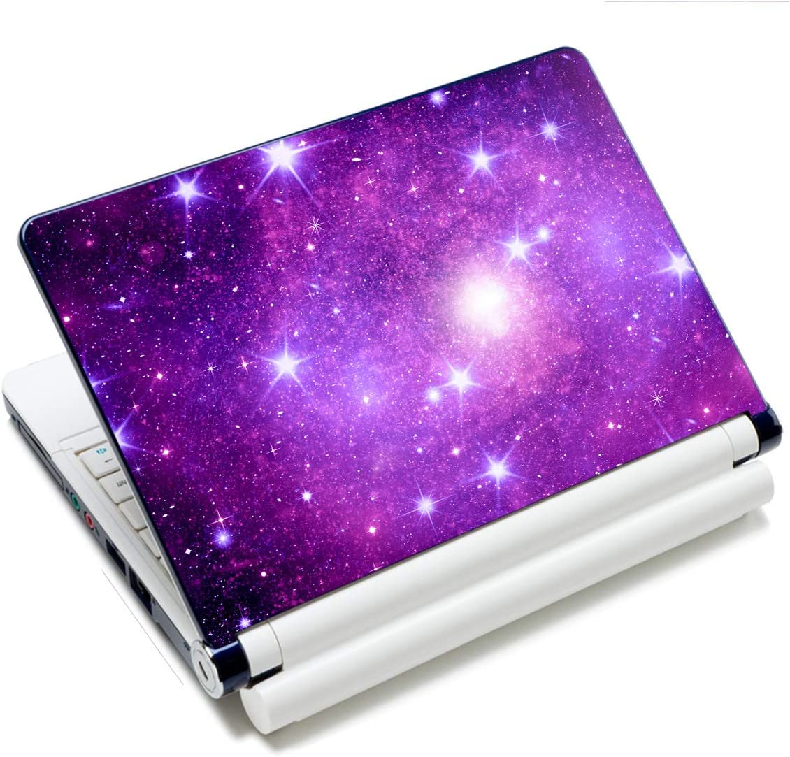 """Laptop Skin Sticker Decal,12"""" 13"""" 13.3"""" 14"""" 15"""" 15.4"""" 15.6"""" Laptop Skin Sticker Protector Cover for Toshiba Hp Samsung Dell Apple Acer Leonovo Sony Asus Laptop Notebook (Starry Sky)"""