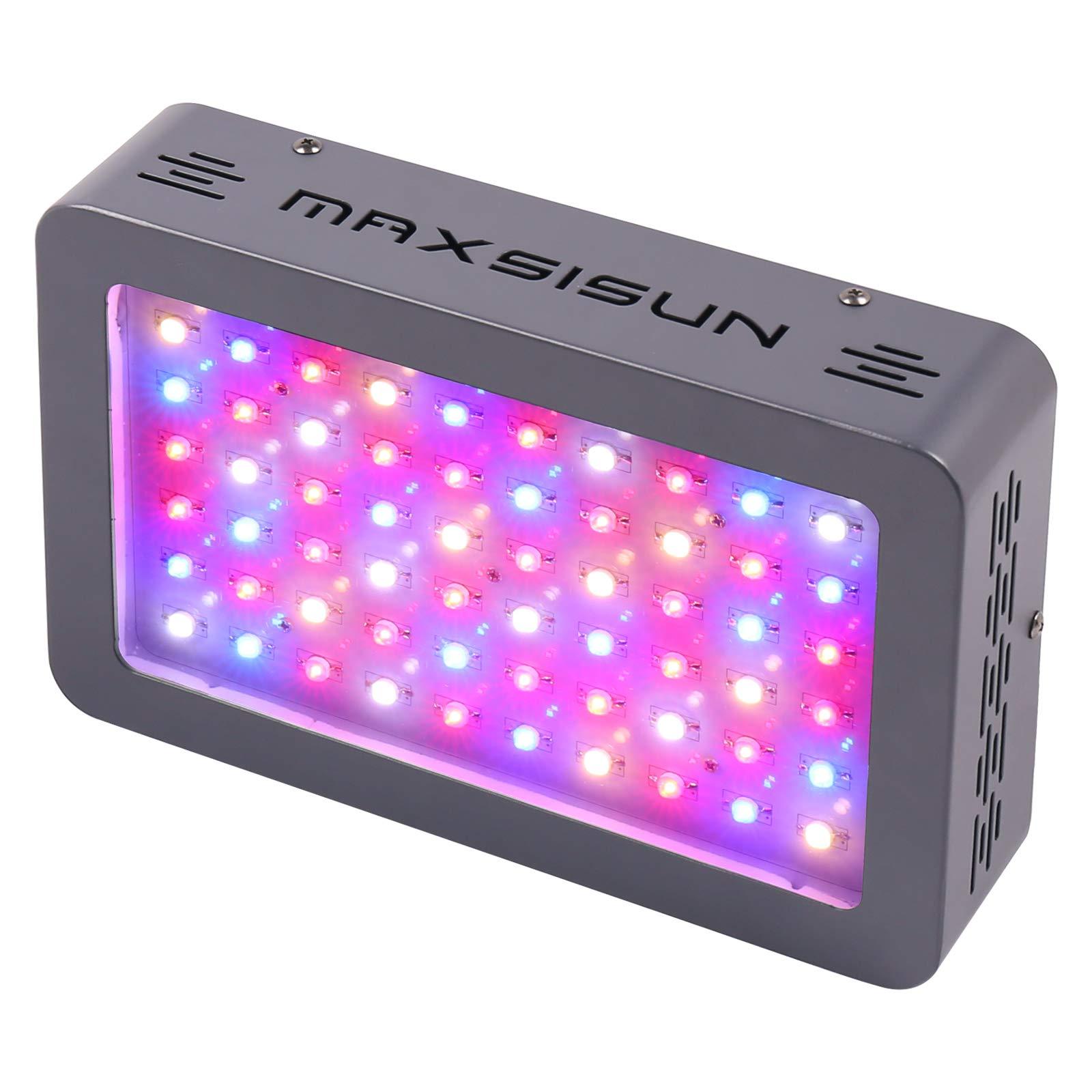 MAXSISUN 300W LED Grow Light Full Spectrum Growing Lights for Indoor Plants Veg and Flower