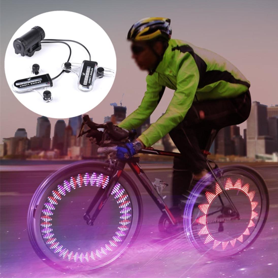 Fullfun Cycling Bicycle Bike Wheel Light,Signal Tire Decorative 2x14 LED Induction Spokes Light