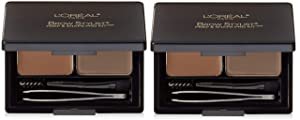 L'Oréal Paris Brow Stylist Prep and Shape Pro Brow Kit, 387 Medium To Dark (2 Pack)