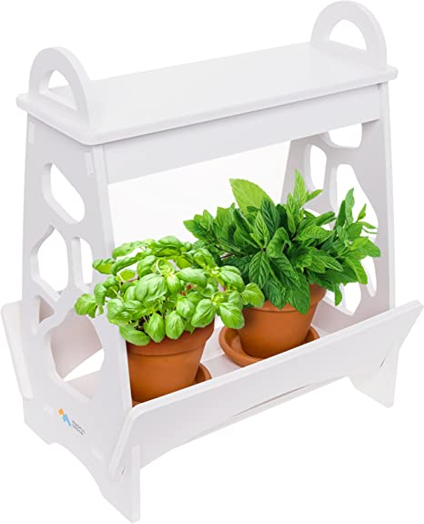 LED Indoor Herb Garden   At Home Mini Planter Kit For Herbs, Succulents, And
