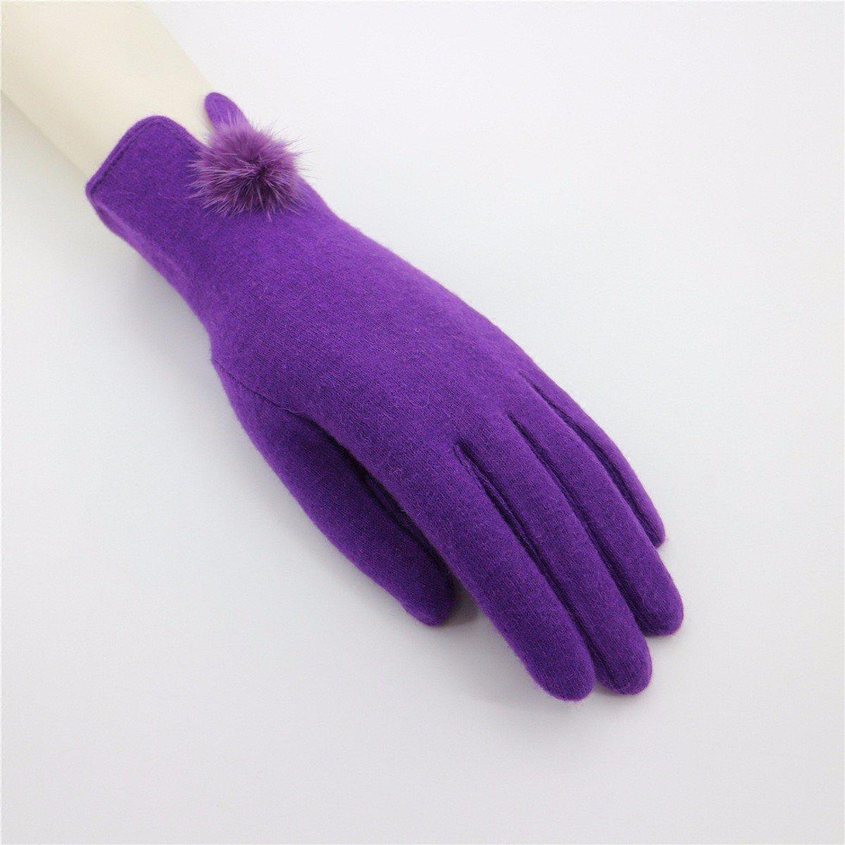DIDIDD Señoras guantes ciclismo guantes toque guantes,Violeta,F