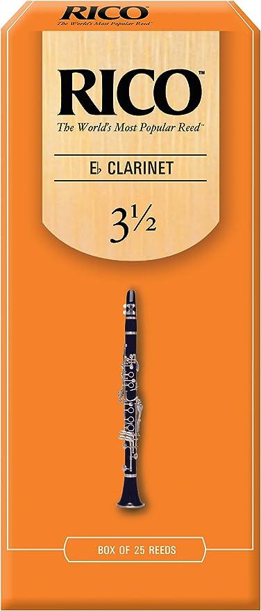 Cañas para clarinete en Mi bemol Rico, resistencia de 3.5, paquete ...