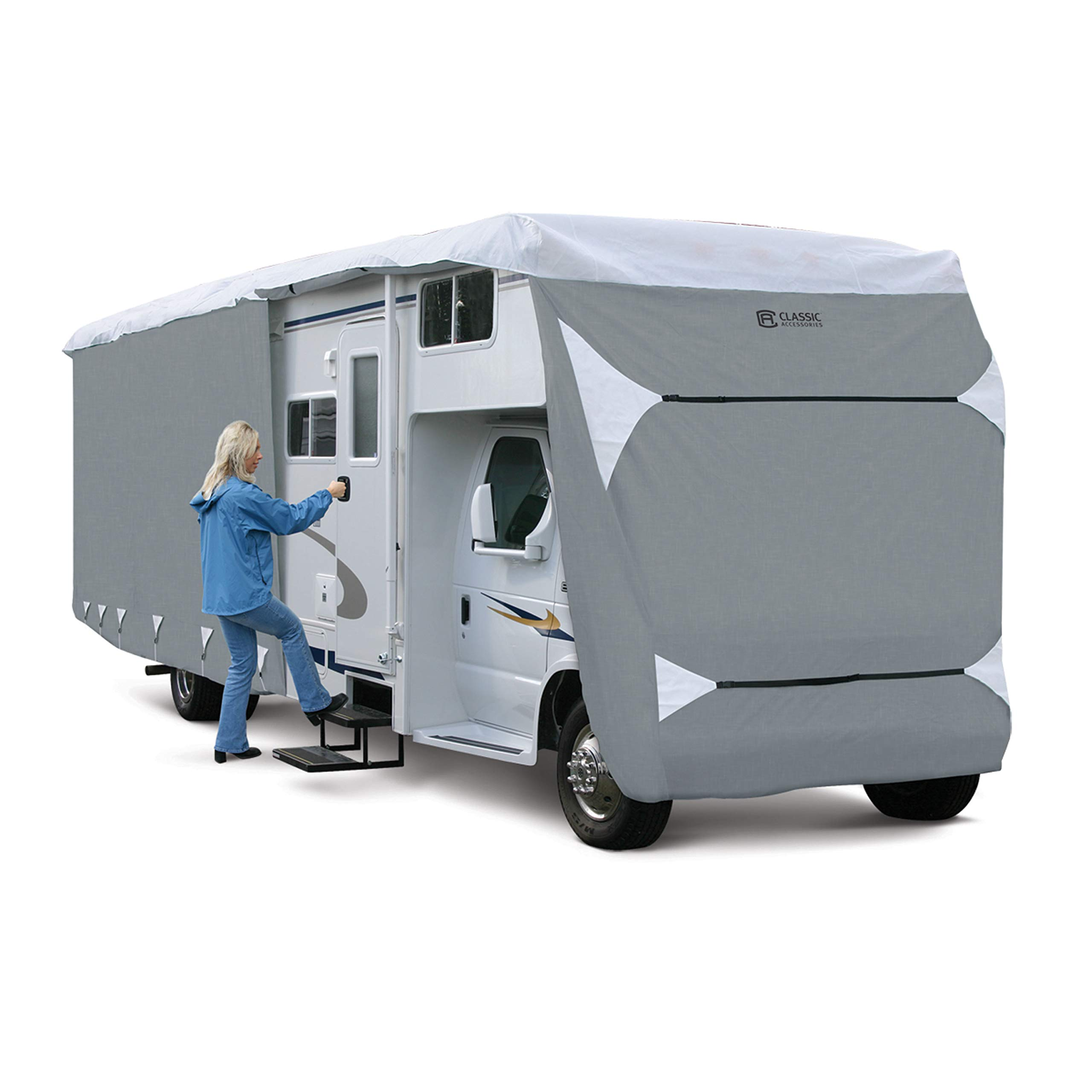 Classic Accessories OverDrive PolyPro 3 Deluxe Class C RV Cover, Fits 32' - 35' RVs