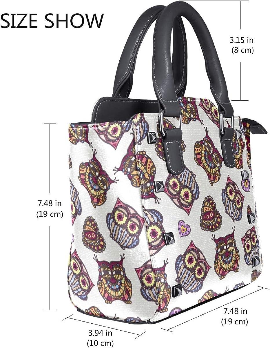 Womens Vintage Boho Owls Pattern Purse Shoulder Bag With Removable Shoulder Crossbody Bags Handbag Christmas//Birthday Gift for Girls Ladies
