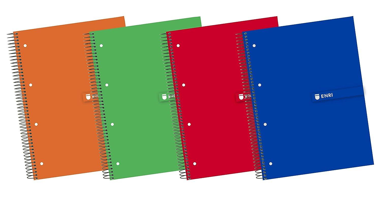 Enri 100430093 - Cuaderno microperforado, A4, 160 hojas, color ...