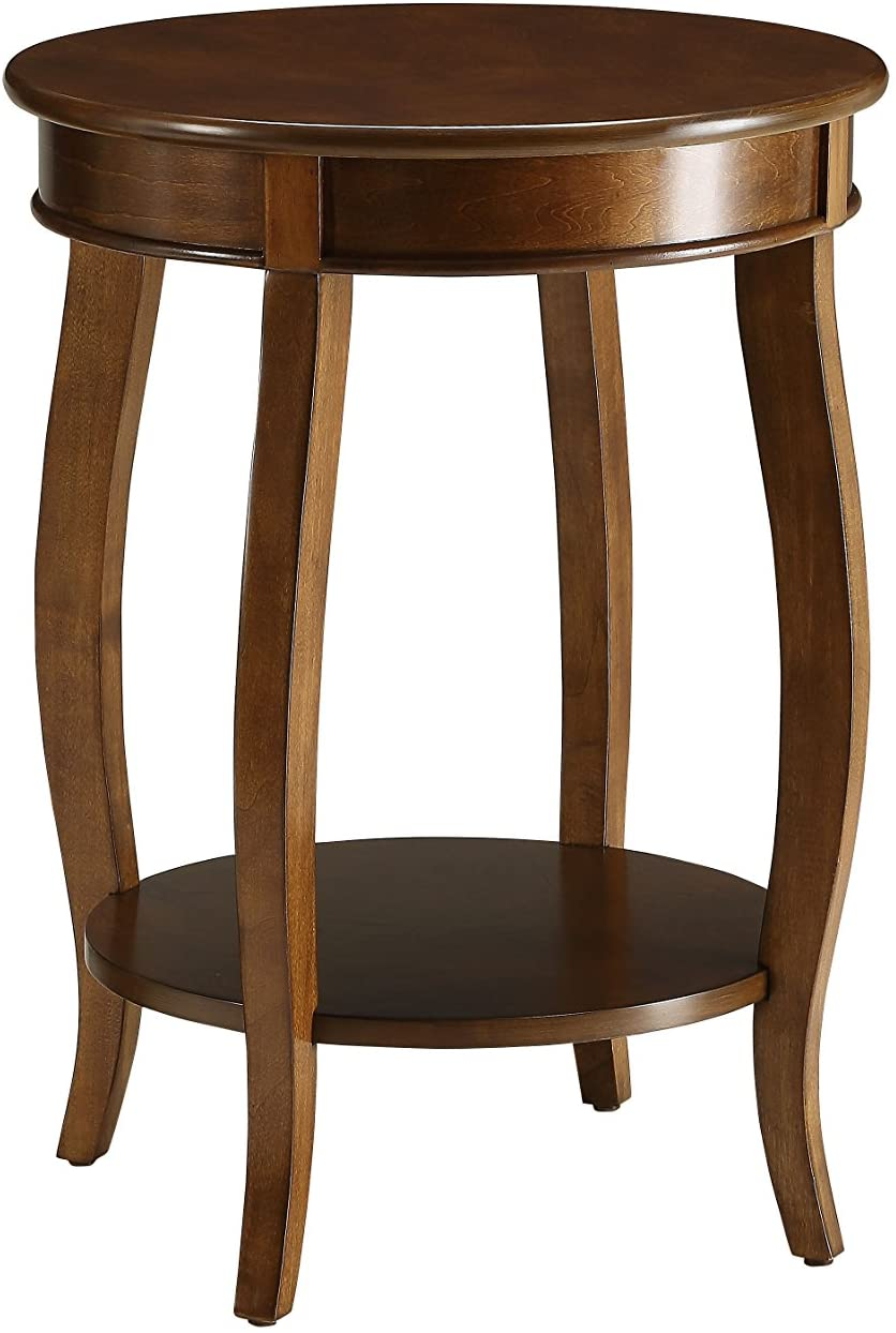 ACME Aberta Side Table - - Walnut