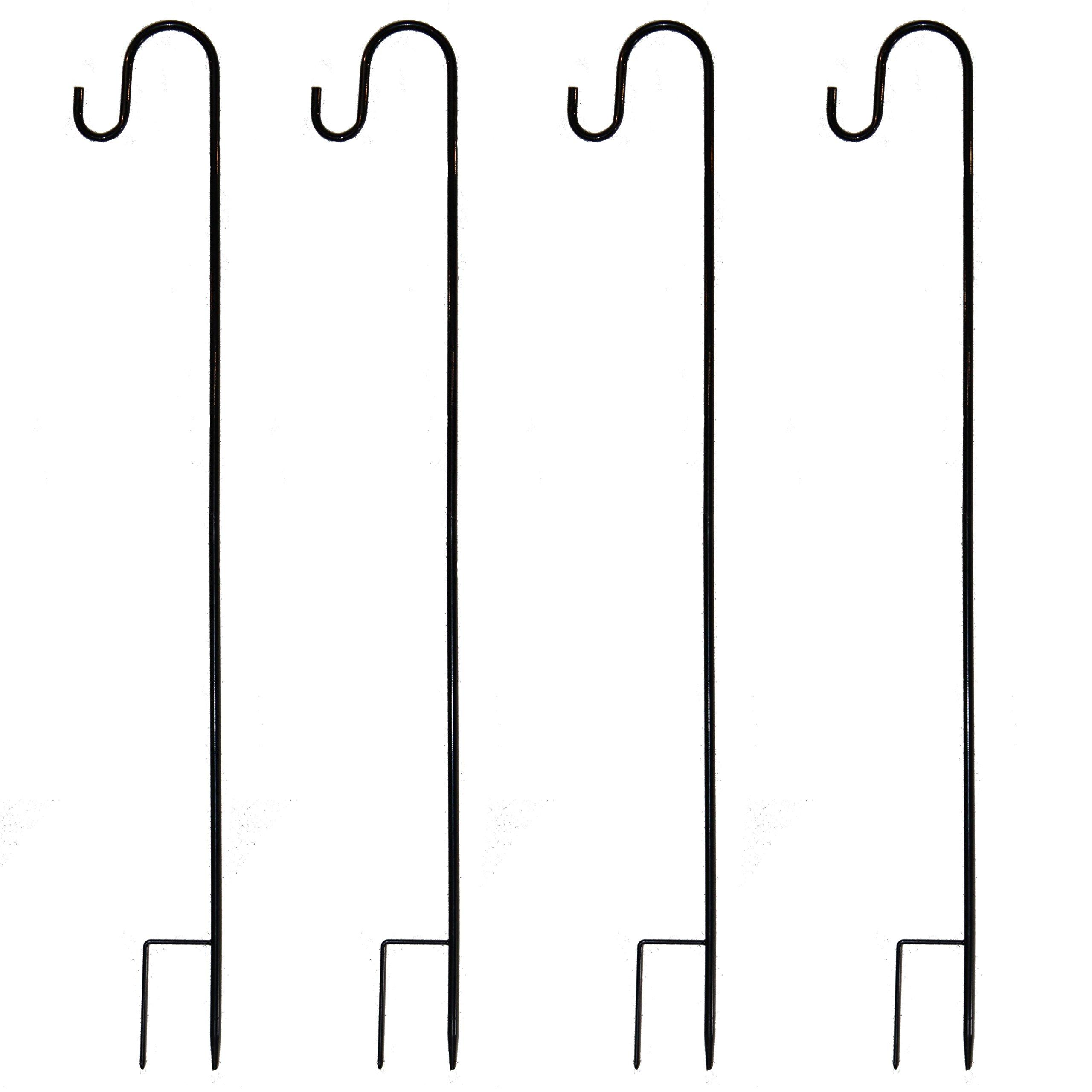 Joiedomi 39 Inches Shepherd Hook Garden Hook Hanger Premium Metal Rust Resistant for Hanging Plants, Solar Lights, Lanterns, Bird Feeders etc (4 Pack) by Joiedomi
