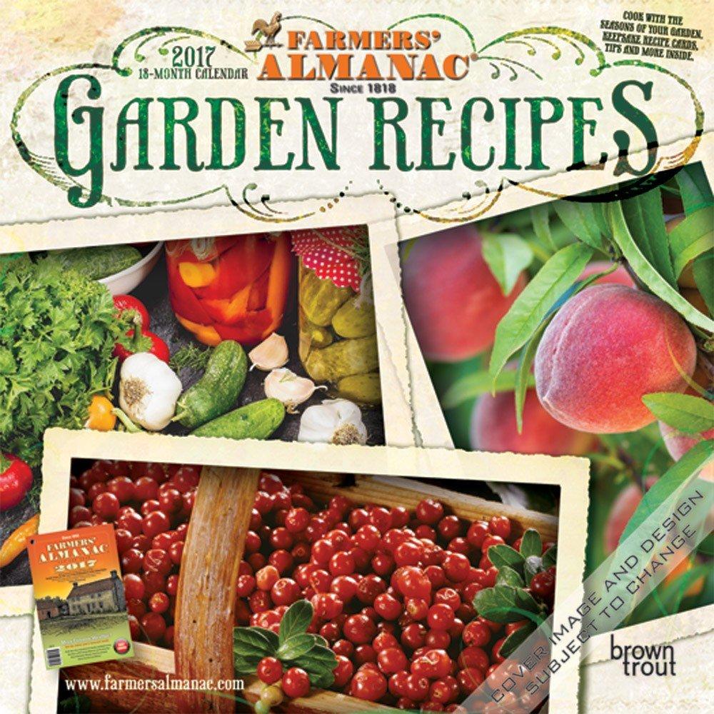 Amazon.com : 2017 Farmers' Almanac Garden Recipes Mini 7x7 Wall Calendar  {jg} Great Holiday Gift Ideas - Great for mom, dad, sister, brother,  grandparents, ...