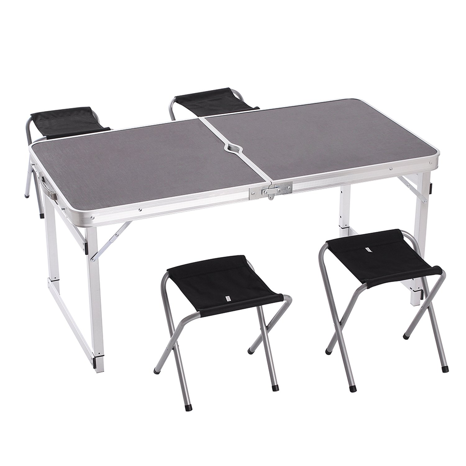 Portable Folding Table w 4 Folding Chairs for Indoor Outdoor