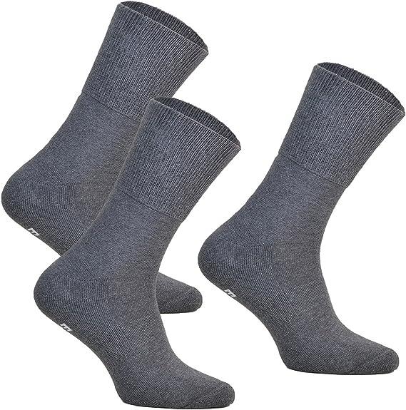 100/% coton Nouveau Non Élastique Diabétiques Chaussettes pour homme Taille 6-11.