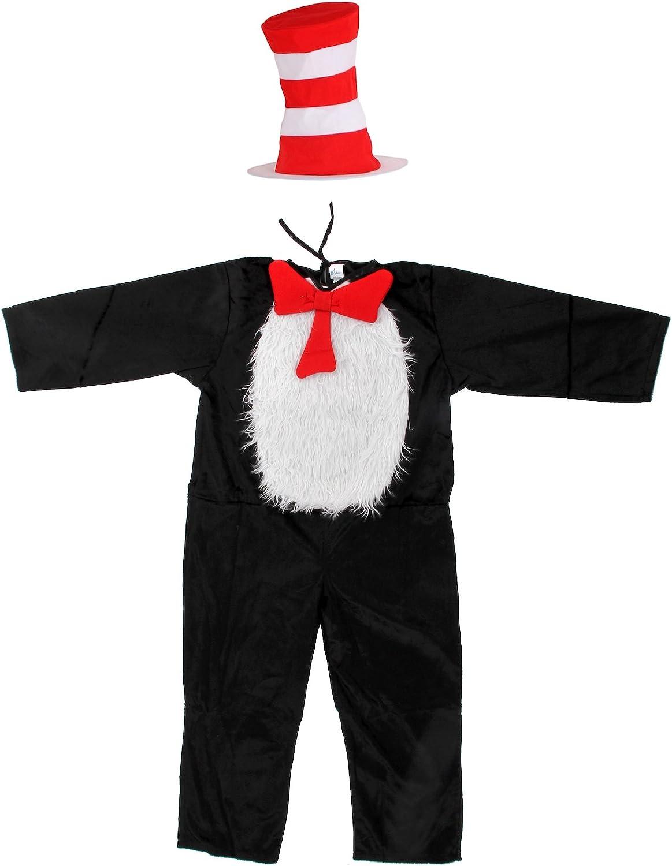 elope Dr. Seuss Cat in The Hat Deluxe Kids Costume (S 4-6)