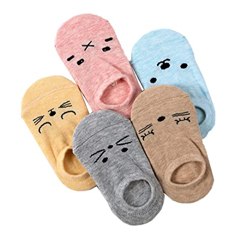 JT-Amigo Calcetines Antideslizantes para Bebés Niños (Pack de 5 Pares), 6