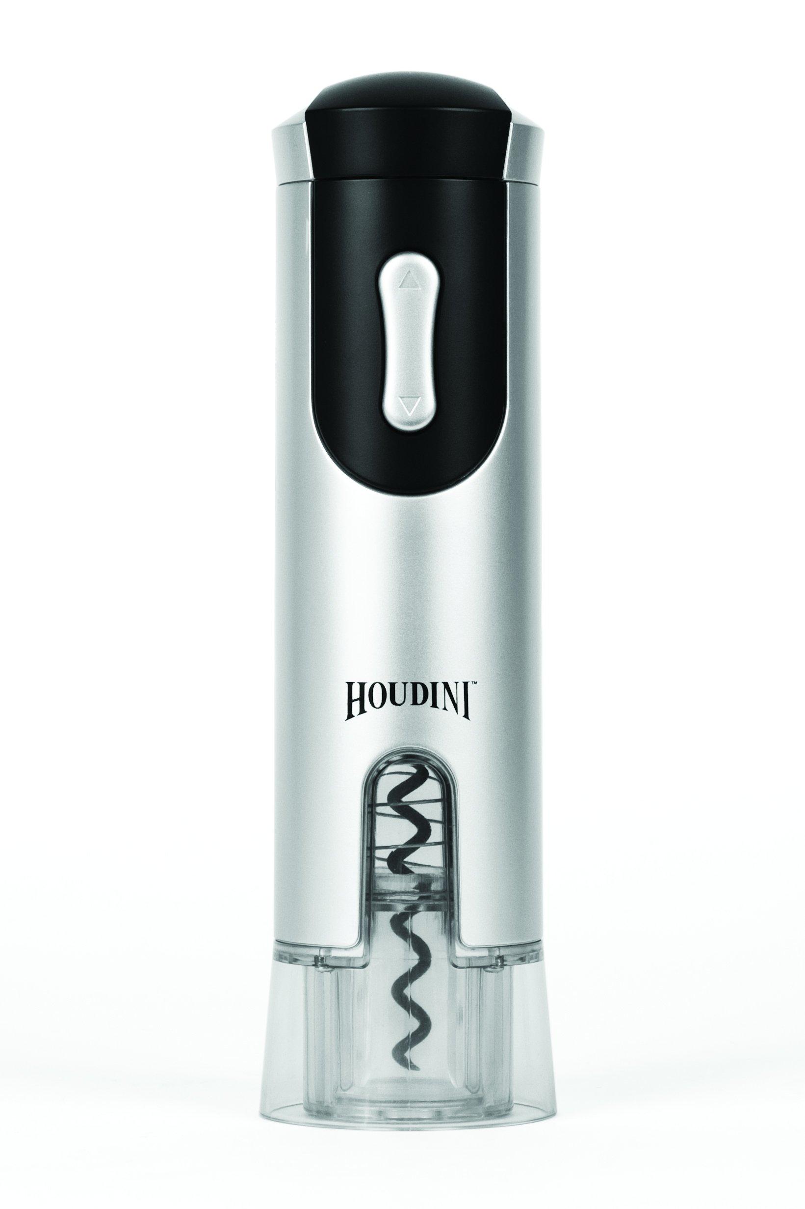 Metrokane Houdini Electric Corkscrew, Silver