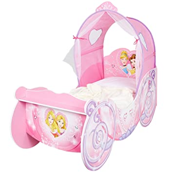 check out f2f2a 9d143 Disney Princess Carriage Feature Toddler Bed Plus Foam ...