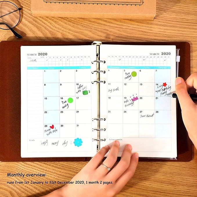 YHH Agenda 2020 Semana Mensual Vista A5 Recargable ...
