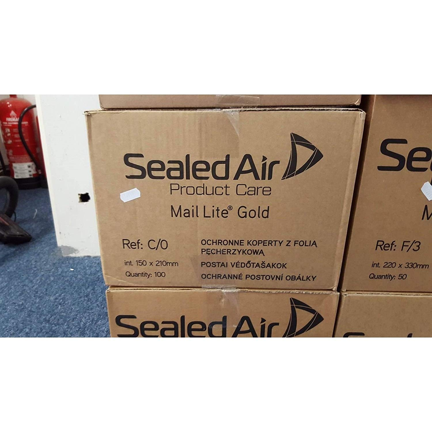BROWN 150 x 210mm 100 X C//0 MAIL LITE SEALED AIR PADDED ENVELOPES GOLD