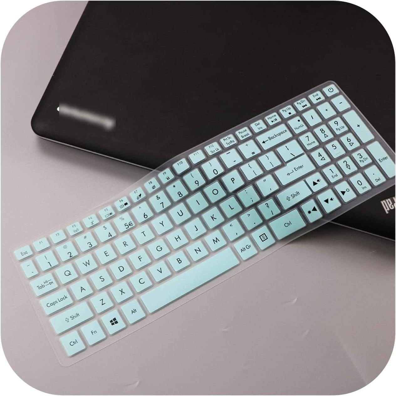 for Acer Predator Helios 300 15.6 17.3 G3 571 G3 572 PH315 51 PH317 52 VX5 591G VN7 793G Laptop Keyboard Cover Skin Protector-White