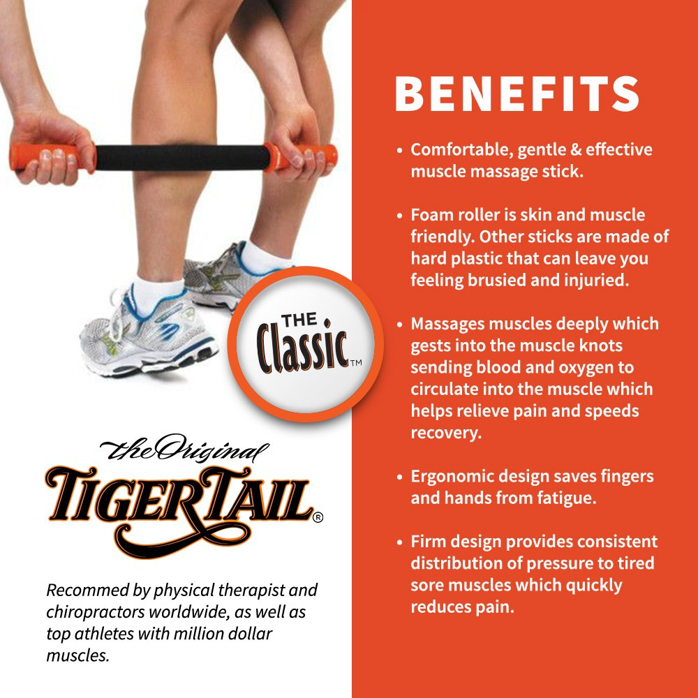 Buy foam roll physical therapy - Amazon Com Original Tiger Tail Massage Stick Classic 18 Massage Therapy On The Go Relieve Sore Muscles Foam Roller Prevent Injury Speed Recovery