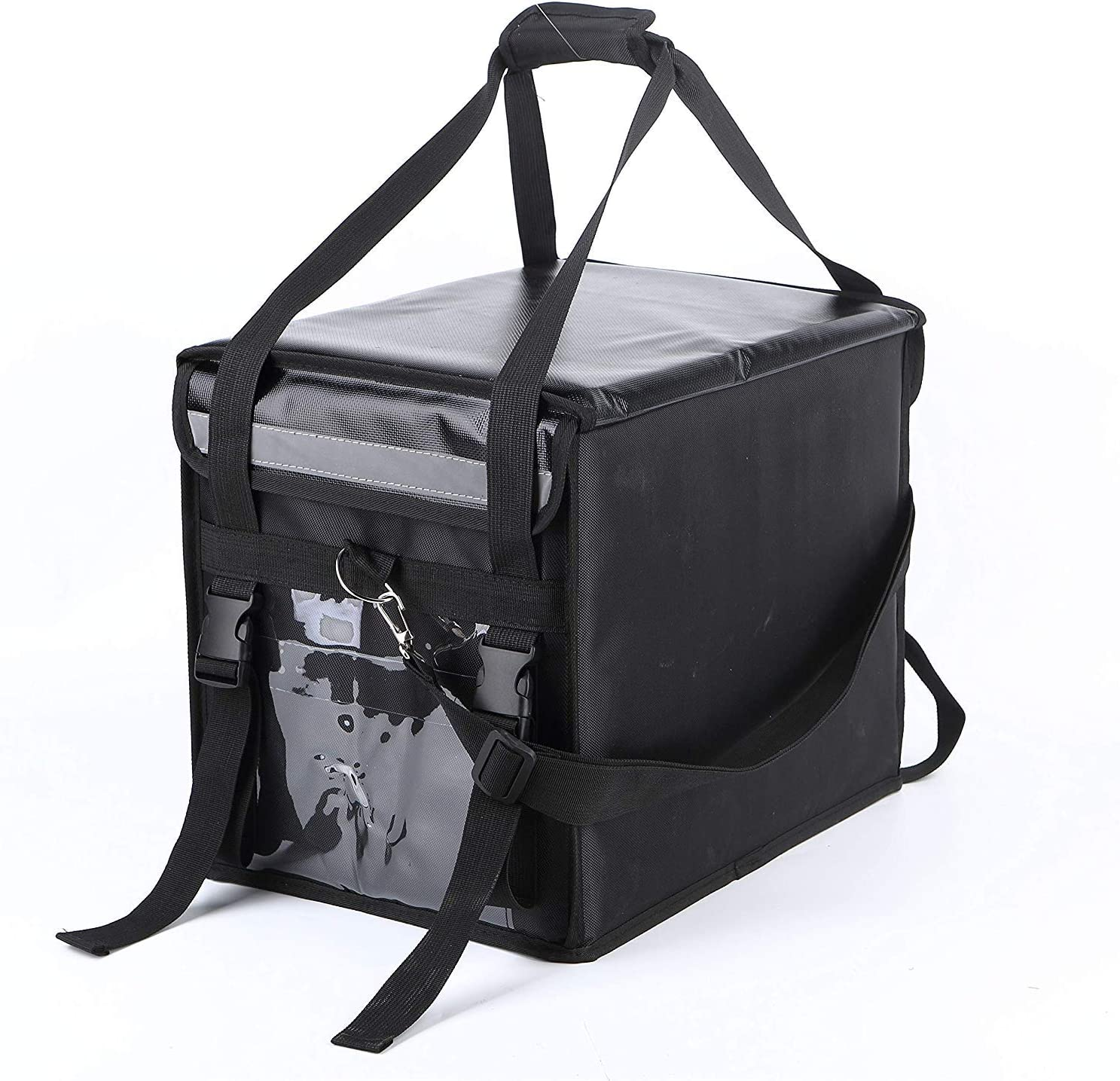 48L Food Delivery Bag, Waterproof,Durable, Standable, Hot and Cool Food,Pizza,Drink,Cooler Bag,Insulated Bag for Catering | Uber Eats Bag