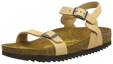 Birkenstock Pali Nubuck Leather Sand Womens Backstrap Sandals 024723 narrow