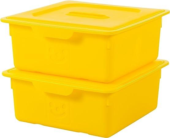 Iris Ohyama 135622/kdl-330/Set di 2/scatole plastica Pistacchio 33/x 31,5/x 13,5/cm