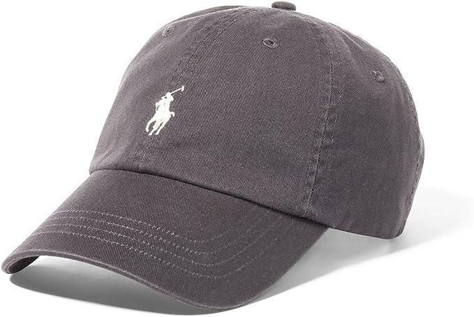 Ralph Lauren – Gorra clásica de deporte – Gris gris gris Talla ...