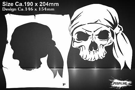 Pirate Skull Stencil Airbrush Template