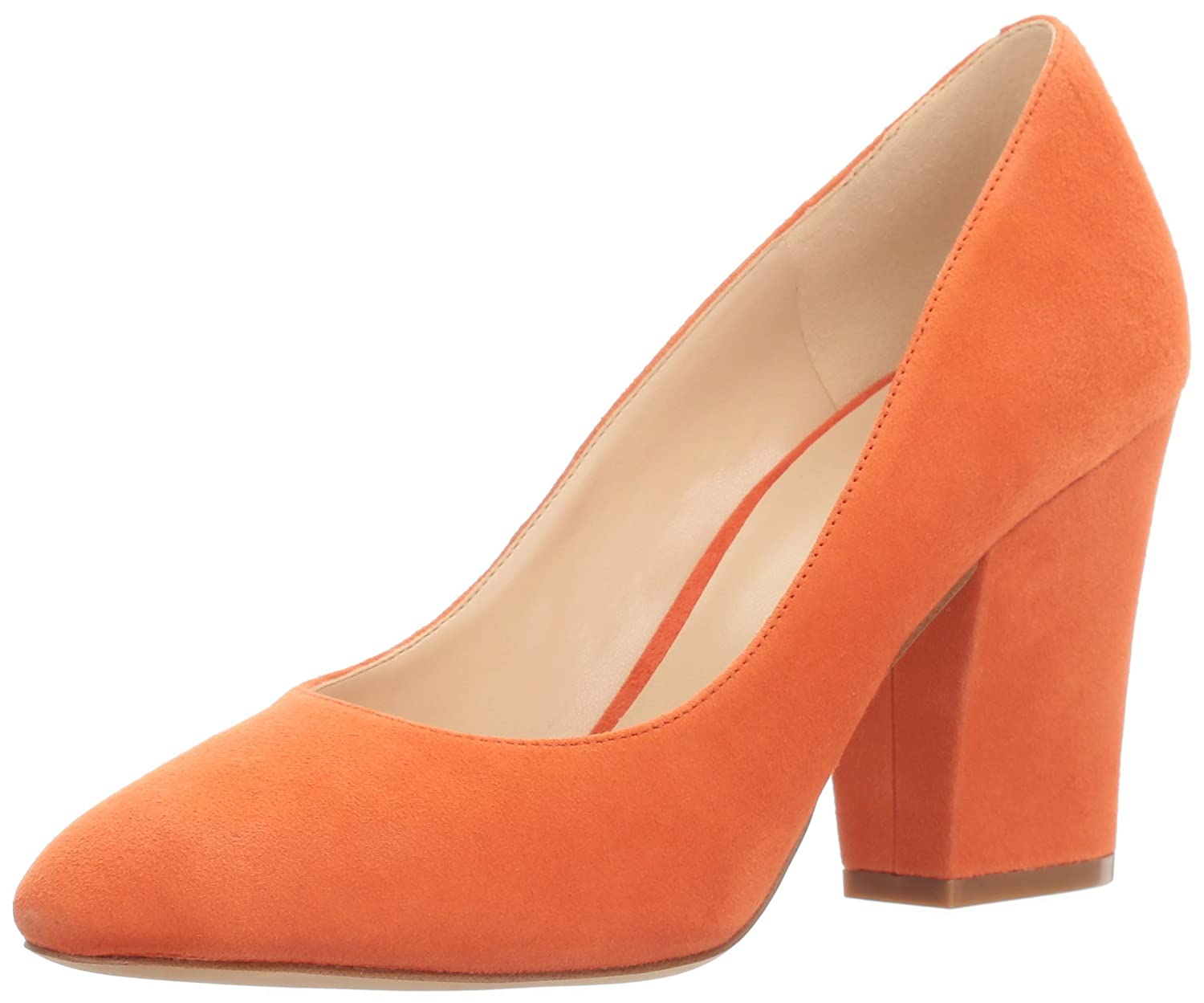 Nine West Pump Women's Scheila Suede Dress Pump West B01ND1AK8F 5.5 B(M) US|Orange cf1ed3