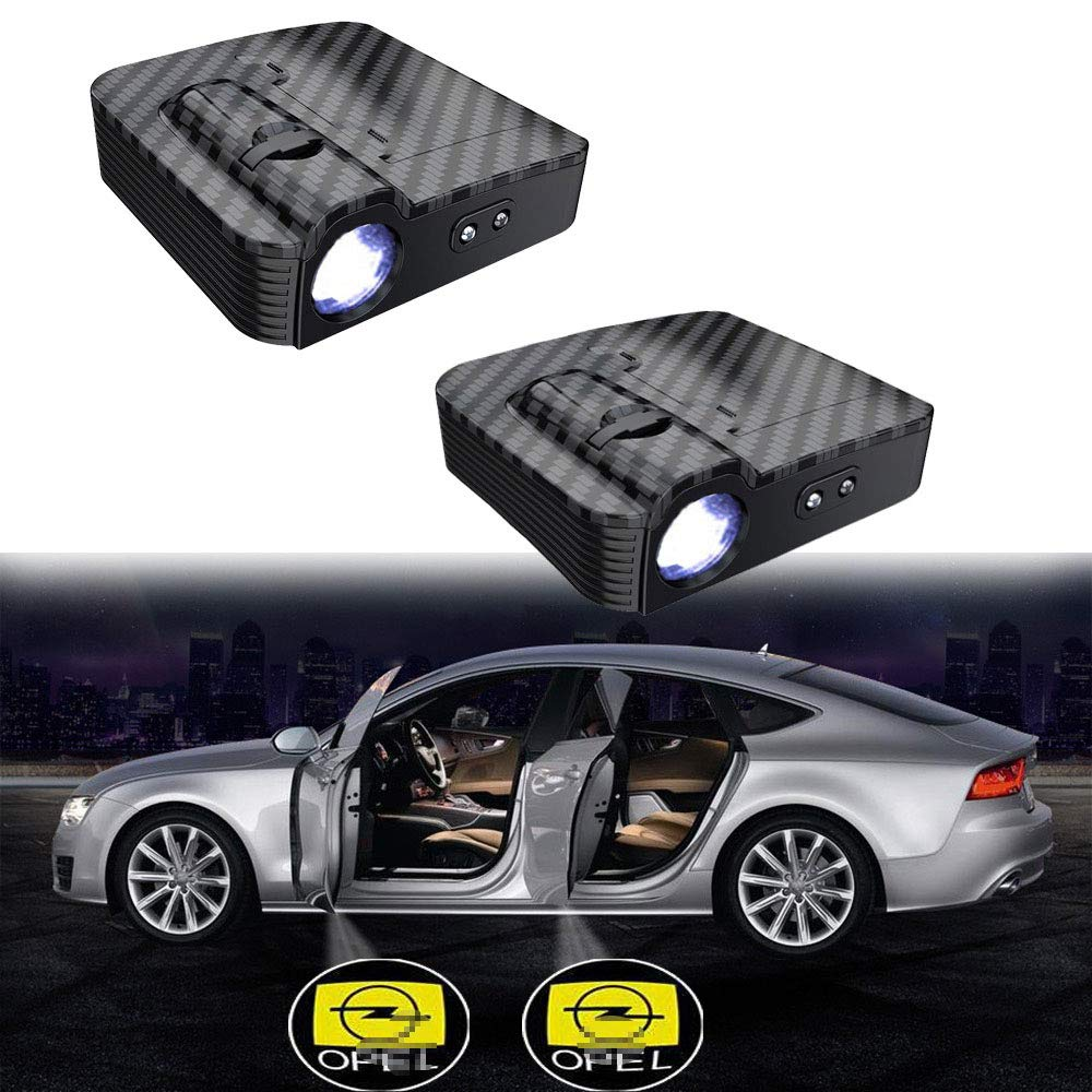 MIVISO Verbesserte Autot/ür Led Logo Projektor Licht Kein Magnet Drahtlose Lampe Smart Infrared Sensor Willkommen Ghost Shadow Light 2 St/ücke