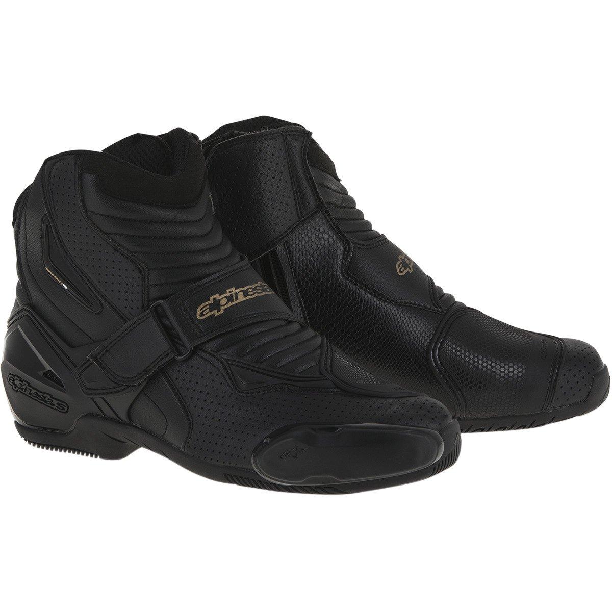Alpinestars SMX-1R Vented Women's Street Motorcycle Boots - Black/Gold / 41