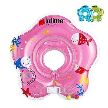 Ibanana - Flotador ajustable inflable para bebé de 1 a 18 meses, rosa: Amazon.es: Deportes y aire libre