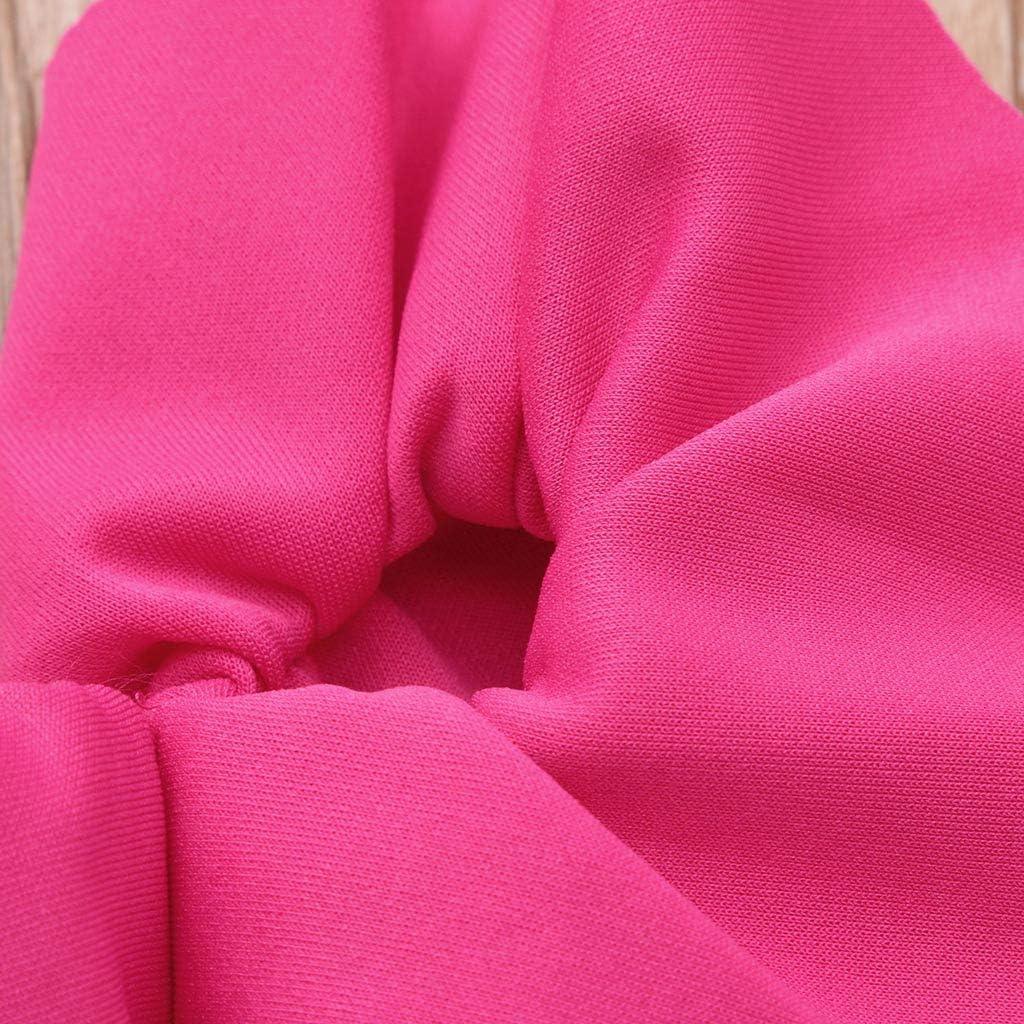 RYGHEWE Newborn Baby Girl Jumpsuit Bodysuit Pink Sleeveless Ruffles Off-Shoulder Romper