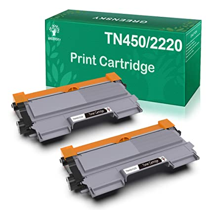 2 × GREENSKY TN-2220 TN-2210 Cartucho de Tóner Compatible, 2600 ...