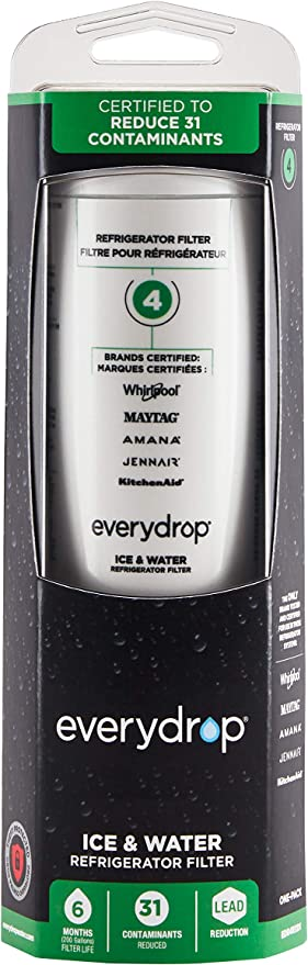 Amazon Com Everydrop By Whirlpool Refrigerator Water Filter 4 Edr4rxd1 Pack Of 1 Home Improvement