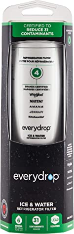 Every Drop by Whirlpool Refrigerator Water Filter 4, EDR4RXD1 (Pack of