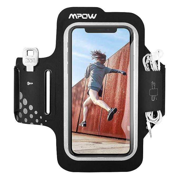 f213e916d6 Mpow Fascia da Braccio, Sweatproof Fascia Sportiva da Braccio per iPhone  XR/XS/X/8/7/6, Samsung Galaxy S7, S6【Fino a 6,2''】, per Corsa & Esercizi ...