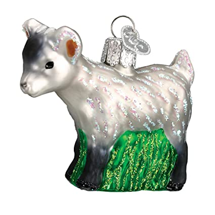 old world christmas pygmy goat glass blown ornament