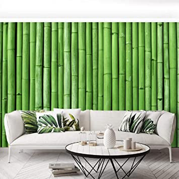 Buy Jaamso Royals Green Bamboo Peel And Stick Self Adhesive Wallpaper Wall Sticker 200 45 Cm Online At Low Prices In India Amazon In