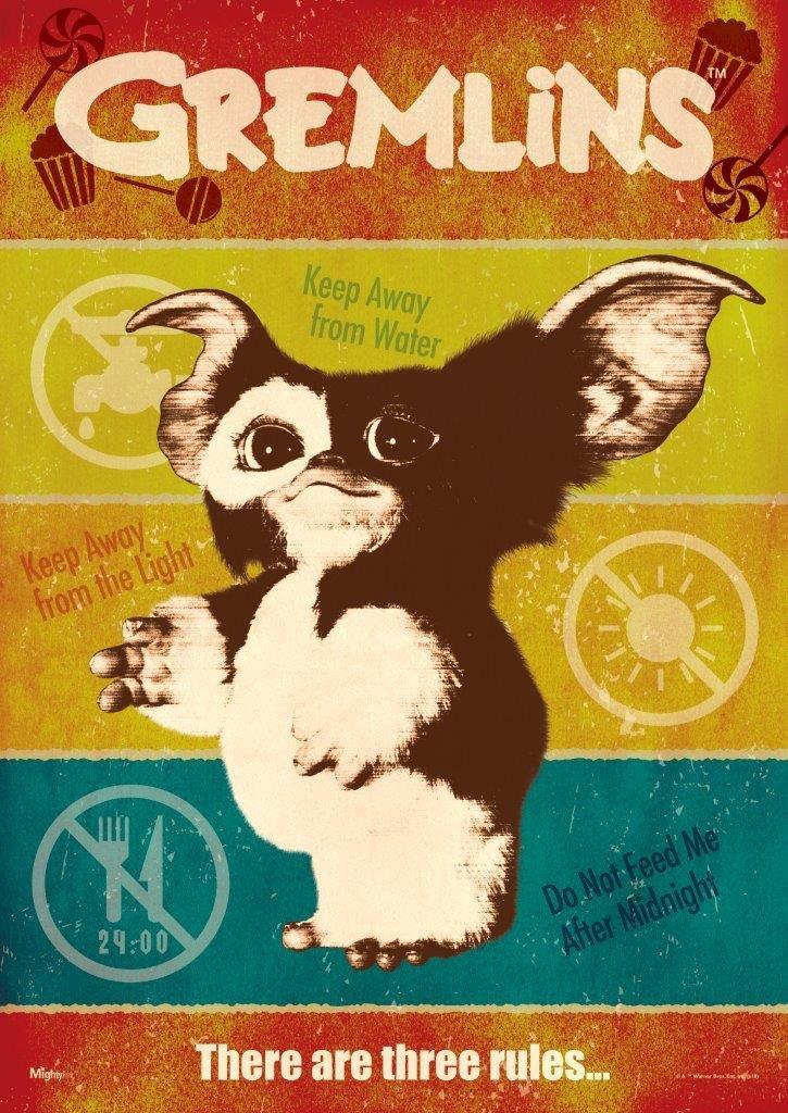 MightyPrint Gremlins - Three Rules Wall Art