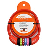 Nean câble antivol pour vélo enfant à combinaison de chiffres, multicolore, 10 x 650 mm