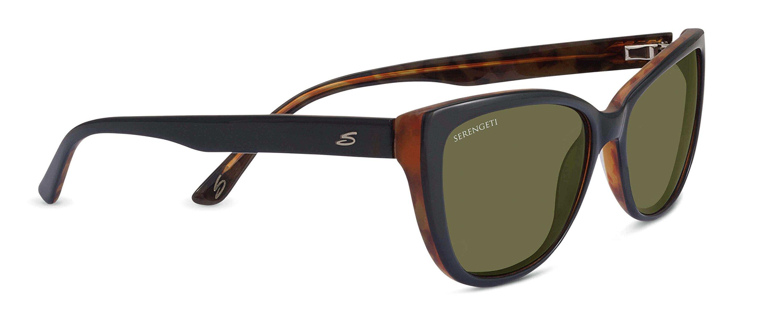 Serengeti 7890 Sophia, Shiny Black/Tortoise Frame, Polarized 555nm Lens