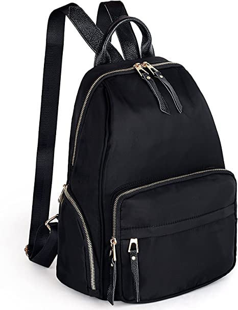 Uto 13 3 Inch Laptop Backpack Oxford Waterproof Nylon Unisex Casual Fashion School Travel Backpack Leather Shoulder Strap School College Travel Bag Luggage