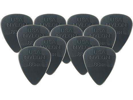 Dunlop nailon Púas para guitarra de tamaños: Amazon.es ...