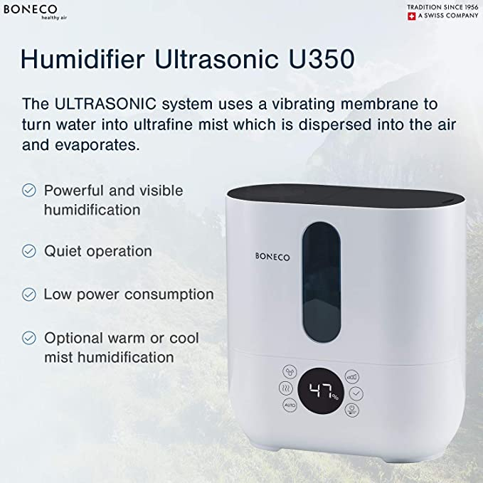 Top Fill BONECO U350 Warm Or Cool Mist Ultrasonic Humidifier