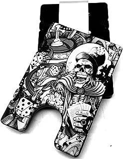 product image for HMC Billet Gambler Skulls RFID Protection Credit Card Holder Aluminum Wallet, Black