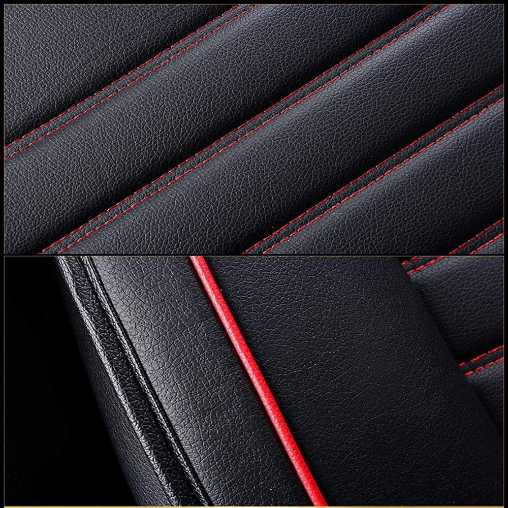 Housse De Si/ège Auto Housse De Si/ège En Cuir PU Universel Quatre Saisons Pour Toyota Rav4 Carola Crown Camry Reiz,Blackred