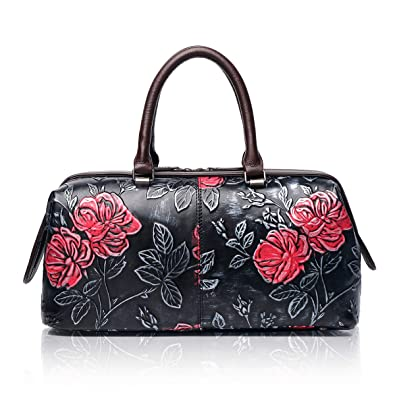 Amazon.com  APHISON Womens Handbags Ladies Purses Design Embossing Satchel  Shoulder Bags Tote Bag 83300 Black  Shoes 0880487cfbe83