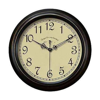 Reloj de pared digital minimalista retro, espejo de cristal redondo mudo creativo, reloj de